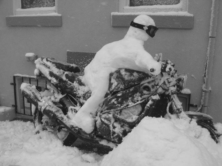 Snowman Chin On The Tank Motorcycle Stuff In Philadelphia