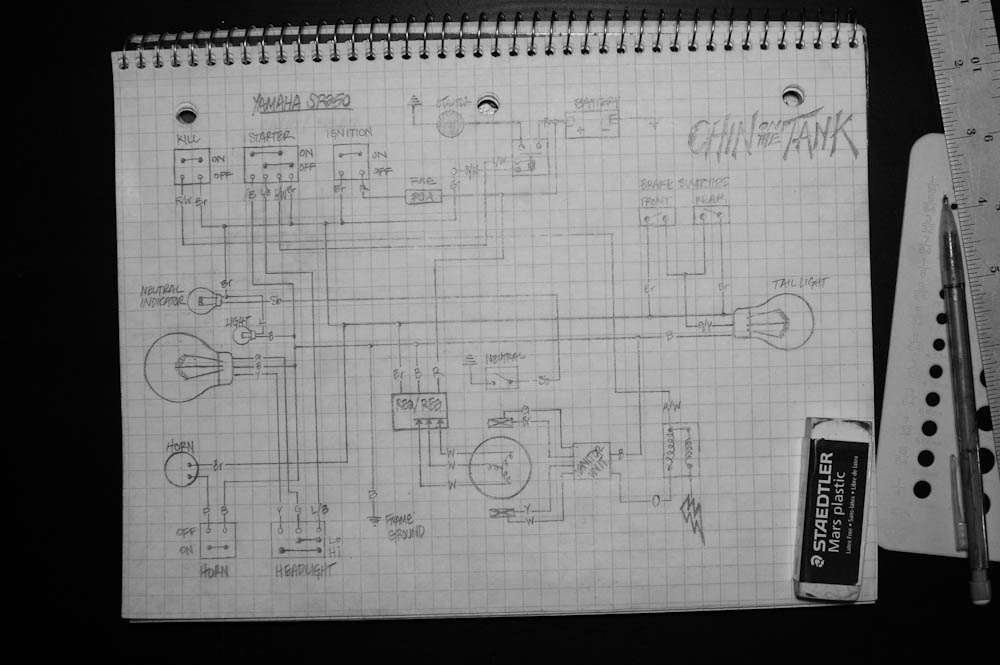 20110219 DSC_9527 sr250 schematics chin on the tank motorcycle stuff in yamaha sr250 wiring diagram at gsmportal.co