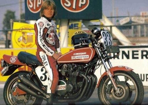 kawasaki 70s race bikes - chin on the tank – motorcycle stuff in