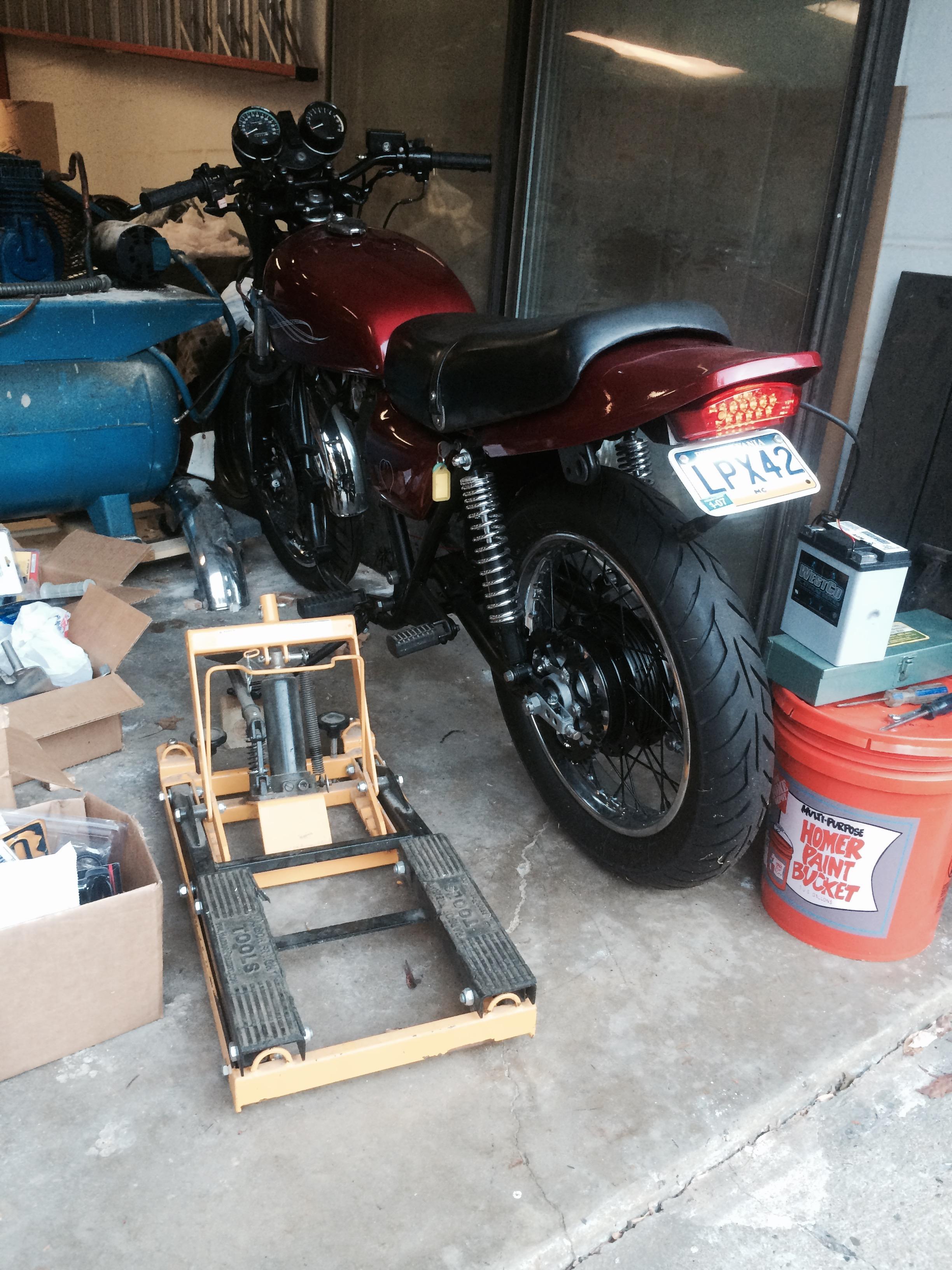 Kz650 Performance Project 1 Chin On The Tank Motorcycle Stuff Kawasaki Wiring Diagram Fender Eliminator Test