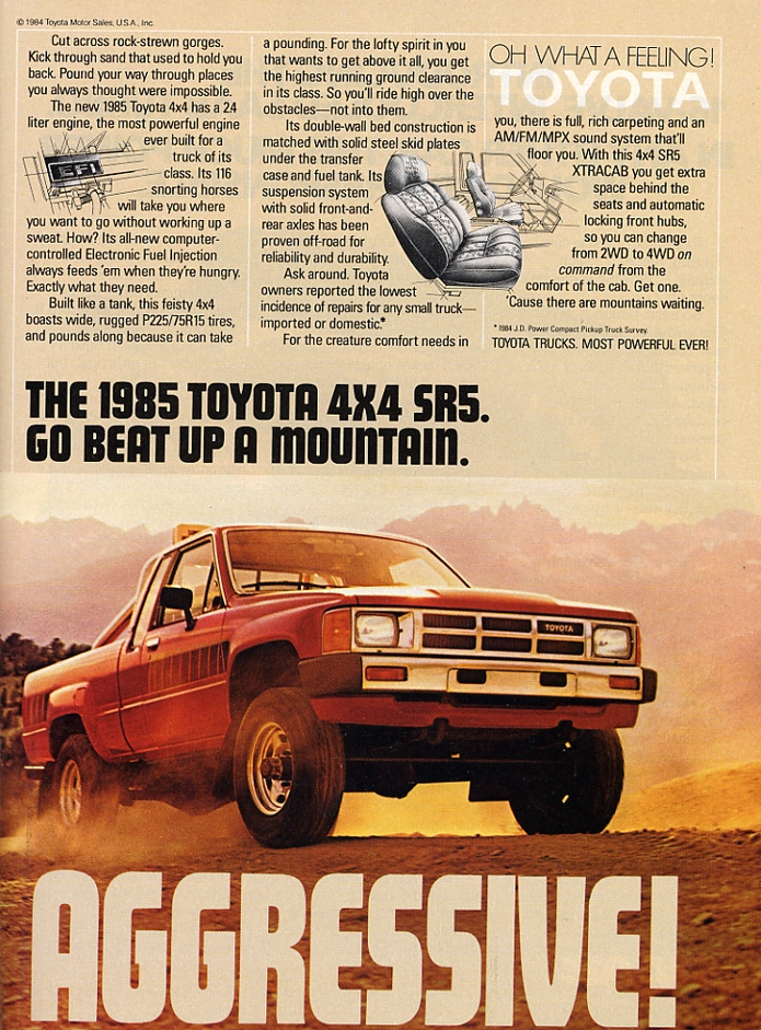 Old Toyota Truck Ads Chin On The Tank Motorcycle Stuff