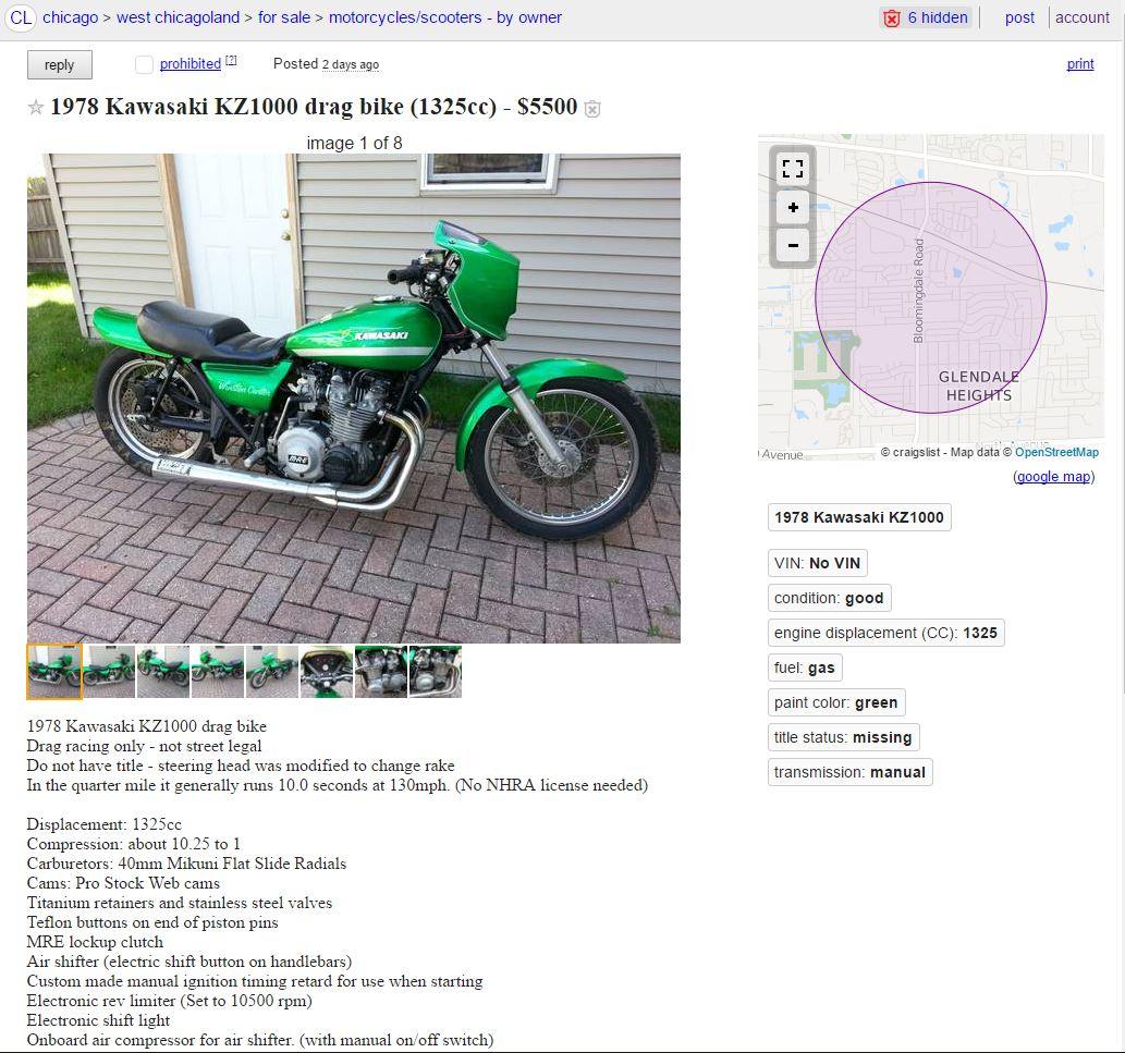 kz1000 drag bike