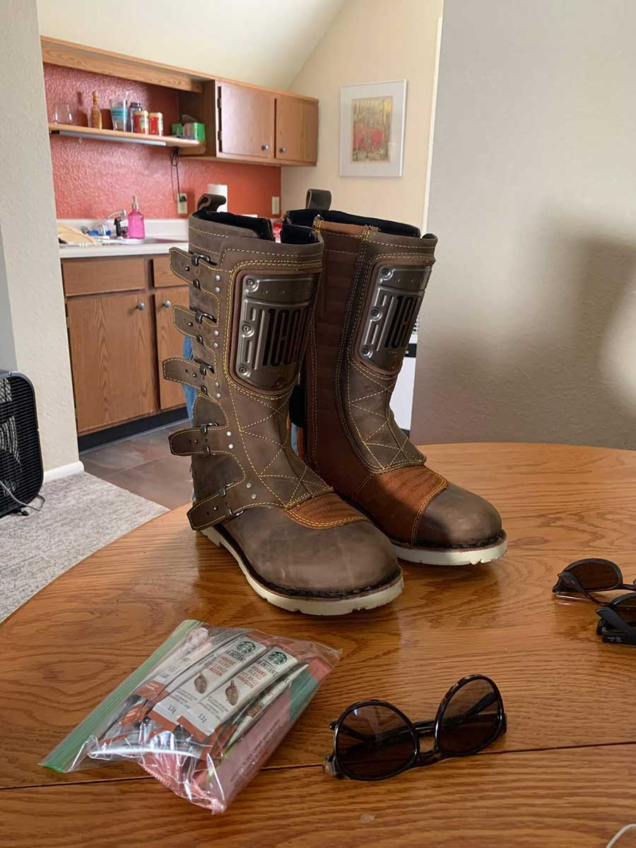 Bought new boots. Honda Ridgline of boots according to Quinn